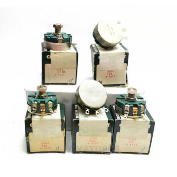 Lot of 5X. NOS NIB Clarostat 58C2 Short Shaft Potentiometer WIREWOUND 100 ohm