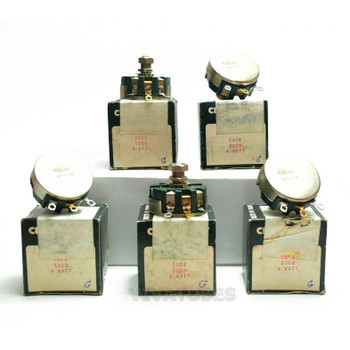 Lot of 5X. NOS NIB Clarostat 58C2 Short Shaft PotentiometerWIREWOUND 5K ohm