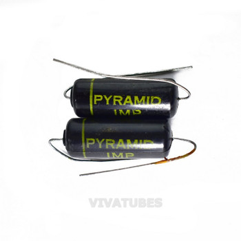 Lot of 2X. Vintage Pyramid 'IMP' Axial Oil Capacitor .047uF @ 600V