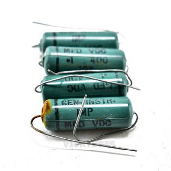 Lot 4X. General Instrument 'IMP' Axial Electrolytic Capacitors .1uF @ 400V.