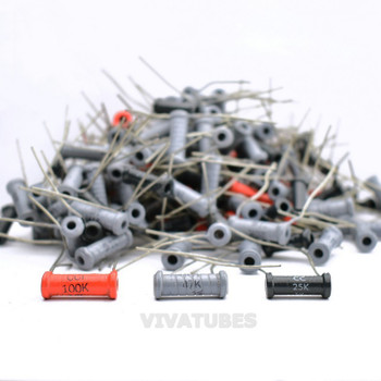 Mixed Lot of Vintage Radial Wire Wound Resistors.