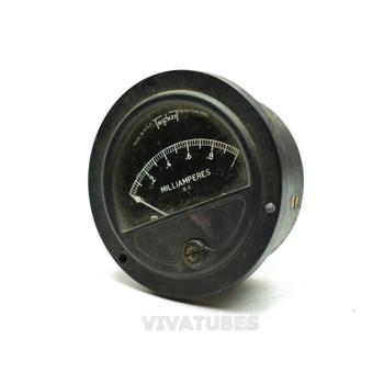 "Vintage Triplett Round DC Panel Meter 0-1 Ma Range 2 1/2""Ammeter"