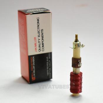 "NOS NIB J.W. Miller 6322 1.5-10 mH Adjustable Filter Choke Coil 2 1/4"""