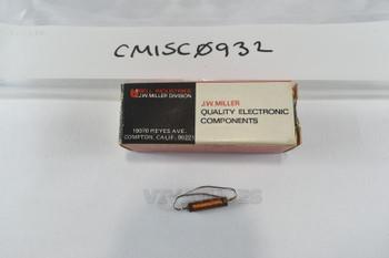 "NOS NIB J.W. Miller 4609 5.5 uH 850 mA R.F. Filter Choke 1/2"""