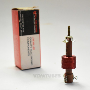 "NOS NIB Miller 6212 12-35 mH Adjustable Filter Choke Coil Tapped 1 3/8"""