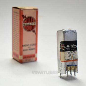 "NOS NIB Miller 6209-P2 4.5 MC. TV Discriminator Coil Printed Circuit 2 1/8"""