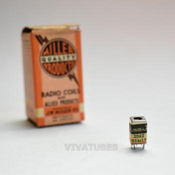 NOS NIB Miller No. 2062 30K to 500 Ohms Micro Miniature 455kc I.F. Coil