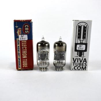 Tests NOS Matched Pair (2) CBS Hytron USA 12AV7 Black Plate [] Get Vacuum Tubes
