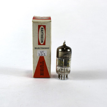 True NOS NIB Raytheon USA 12AV7 Black Plate Top [] Get Vacuum Tube 100%
