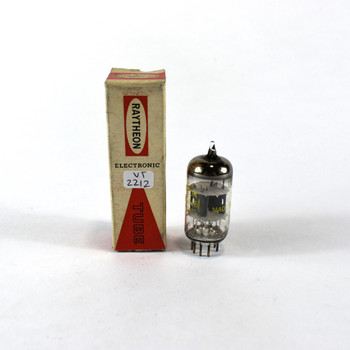 True NOS NIB Raytheon USA 12AV7 Grey Plate Top O Get Vacuum Tube 100+%