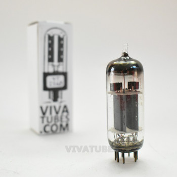 GE USA 12BH7A Grey OVAL Plate Top Fat D Get Vacuum Tube 104/80%