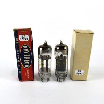 True NOS NIB Matched Pair Raytheon USA 12BH7A Black OVAL Plate [] Get Tubes
