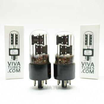 Tests NOS Matched Pair 2 CBS Hytron USA 6X5GT Black Plate Foil Get 3 Mica Tubes