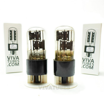 Tests NOS Matched Pair CBS Hytron 6X5GT Black Plate 3 Mica Tubes