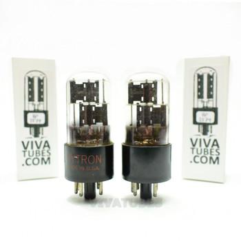 Tests NOS Date Matched Pair CBS Hytron 6X5GT Black Pl Foil Getter 3 Mica Tubes