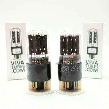 Tests NOS Matched Pair GE USA 6X5GT Black Plate Foil Get Vacuum Tubes