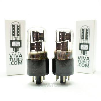 Tests NOS Matched Pair Sylvania US 6X5GT Black Plate Foil Get 3 Mica Tubes