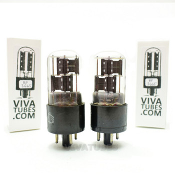 Tests NOS Matched Pair Sylvania JAN-CHS-6X5GT/VT-126B Black PL 3x Mica Tubes