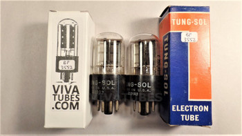 Tests NOS Matched Pair Vintage Tung-Sol USA 6X5GT [] Get Tubes