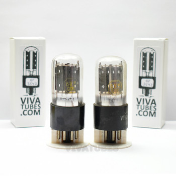 Tests NOS Matched Pair Vintage Tung-Sol USA JAN-CTL-6X5GT / VT-126B Tall Tubes