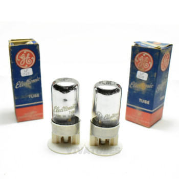 True NOS NIB Matched Pair GE USA 7A6 Vacuum Tubes 100+%