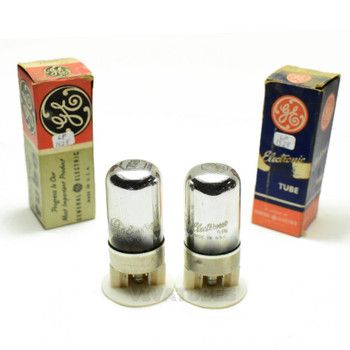 True NOS NIB Date Matched Pair GE USA 7A6 Vacuum Tubes 100+%