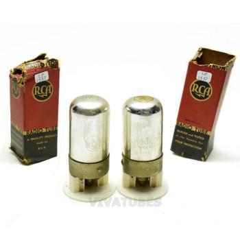 True NOS NIB Date Matched Pair RCA USA 7A6 Vacuum Tubes