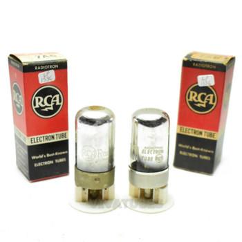 True NOS NIB Date Matched Pair RCA USA 7A6 Vacuum Tubes 100+%