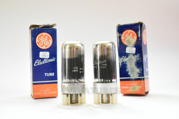 True NOS NIB Matched Pair GE USA 7C5 Smoked Glass Vacuum Tubes 100+%