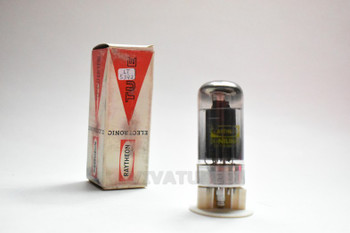 True NOS NIB Raytheon USA 7C5 Black Plate Top O Get Smoked Glass Vacuum Tube
