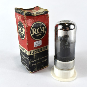 True NOS NIB RCA USA 7C5 Black Smoked Glass Vacuum Tube 100%