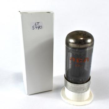 True NOS RCA USA 7C5 Black Plate Top O Get Smoked Glass Vacuum Tube 100+%