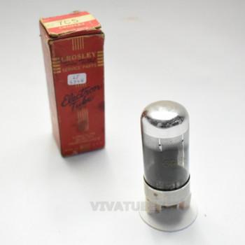 True NOS NIB Sylvania USA 7C5 Smoked Glass Vacuum Tube 100%