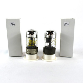 Matched Pair Sylvania USA 7C6 Black Plate Top Foil Get 3 Mica Vacuum Tubes 80%