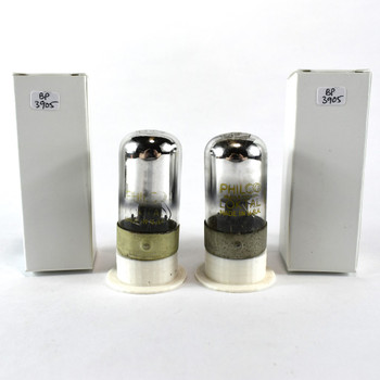 Tests NOS Matched Pair Sylvania USA 7C6 Black 3 Mica Vacuum Tubes