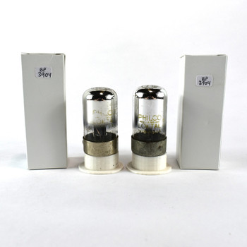 Tests NOS Matched Pair Sylvania US 7C6 Black 3 Mica Vacuum Tubes