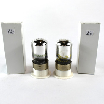 Tests NOS Matched Pair Sylvania 7C6 Black 3 Mica Vacuum Tubes