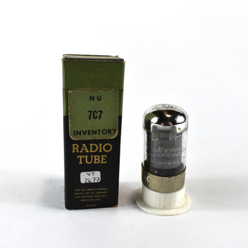 True NOS NIB National Union NU USA 7C7 Black Vacuum Tube 100+%