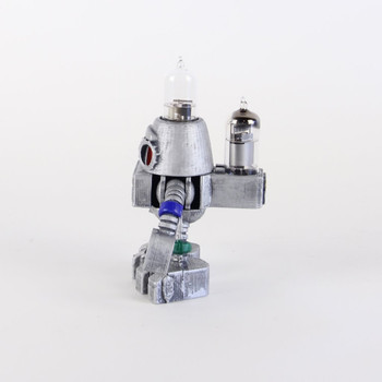 Handcrafted Vacuum Tube Robot Figurine - Small - Robo