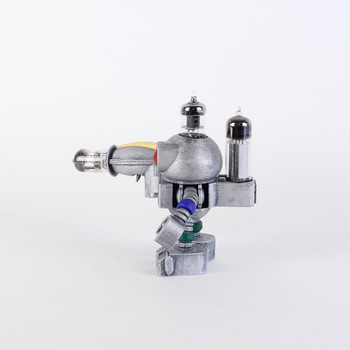 Handcrafted Vacuum Tube Robot Figurine - Small - Rodbert