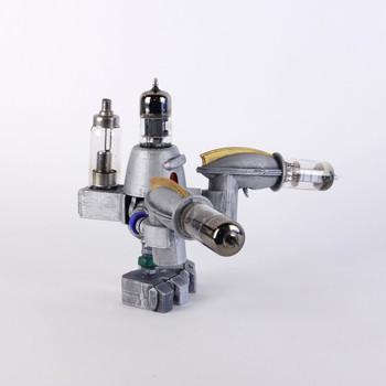 Handcrafted Vacuum Tube Robot Figurine - Medium - Rodbrecht