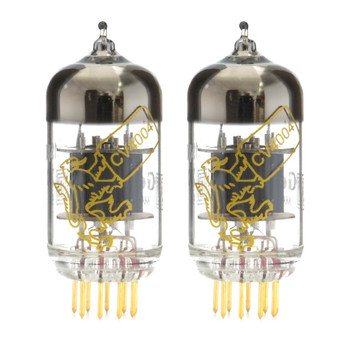 New Gain Matched Pair Genalex Gold Lion CV4004 Short Plate Gold Pins 12AX7 Vacuum Tubes