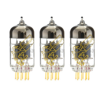 New Gain Matched Trio Genalex Gold Lion CV4004 Short Plate Gold Pins 12AX7 Vacuum Tubes