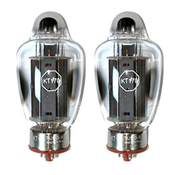 New Factory Matched Pair Tung-Sol KT170 Vacuum Tubes
