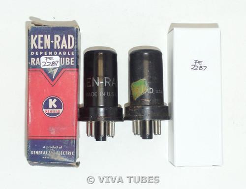 NOS Matched Pair Ken-Rad USA 6SC7 Metal Vacuum Tubes 100+%