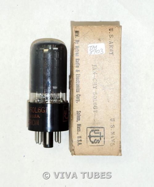 NOS NIB Hytron [CBS] USA JAN-CHY-50L6GT Black Plate [] Get Smoked Vacuum Tube