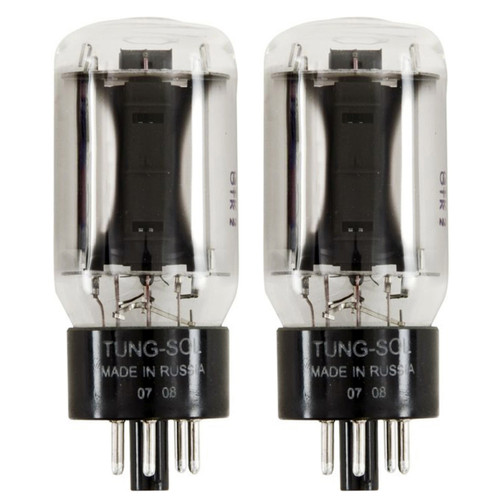 New Plate Current Matched Pair (2) Tung-Sol 6L6GC STR Reissue Vacuum Tubes