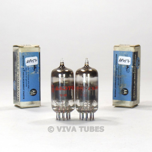True NOS NIB Matched Pair GE USA 6EA8 = 6GH8A Gray Plate Smoked Vacuum Tubes