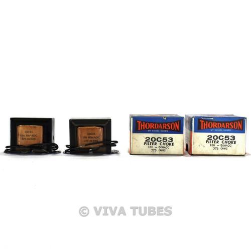 NOS NIB Thordarson Pair (2) 20C53 Filter Choke Transformers 12H 80mA 375ohm