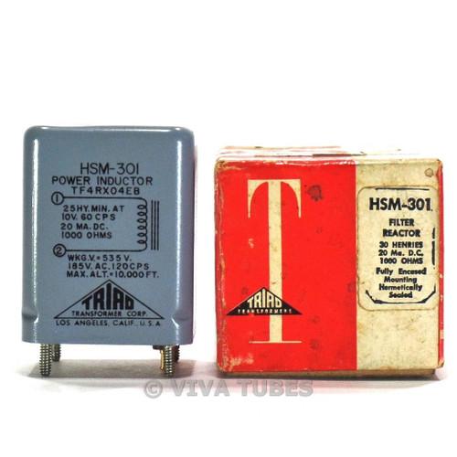 NOS NIB Triad HSM-301 Filter Reactor Choke Choke Transformer 30H 20 mADC 1000ohm